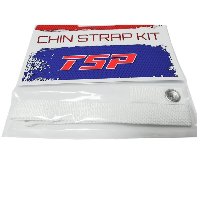 Набор для шлема TSP - 2 ремешка и пряжка [белый]