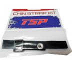 Набор для шлема TSP - 2 ремешка и пряжка [черный]