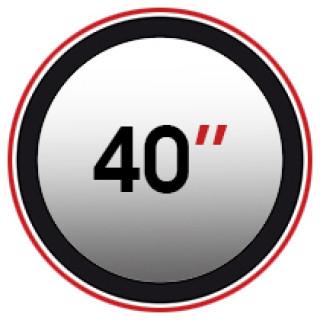 "40"" (0)"