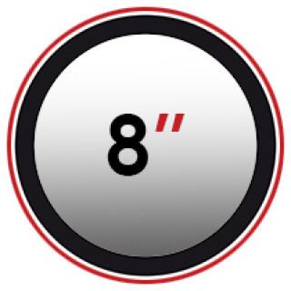 "8"" (0)"